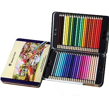 Hebey - Lápices de colores para acuarelas, juego de 48 ...