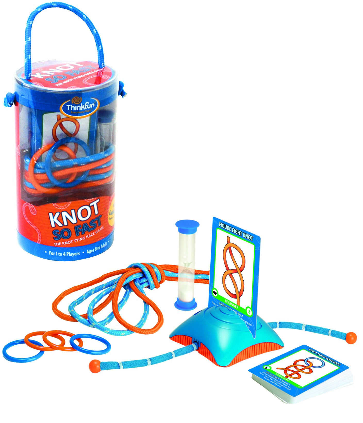 Think Fun Knot So Fast Innovative Knot Tying Game with 40 Challenges by Think Fun