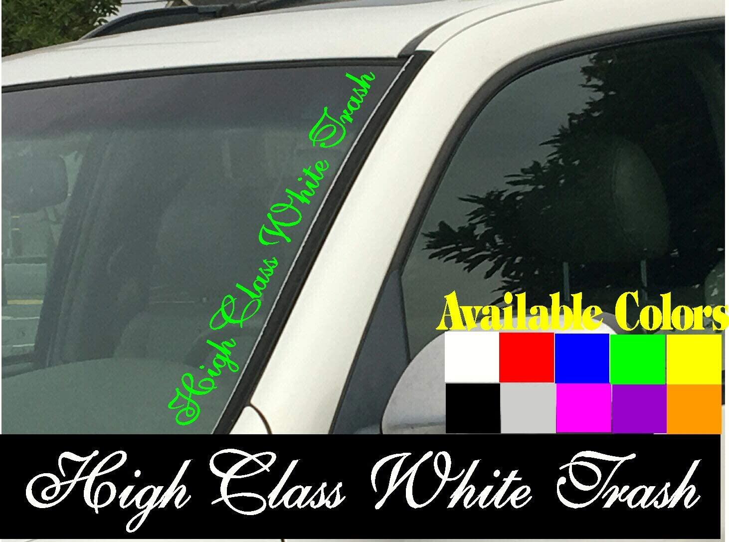 Garbage Sign Sticker Cut-Out Vinyl Decal for car vehicle window door or bumper
