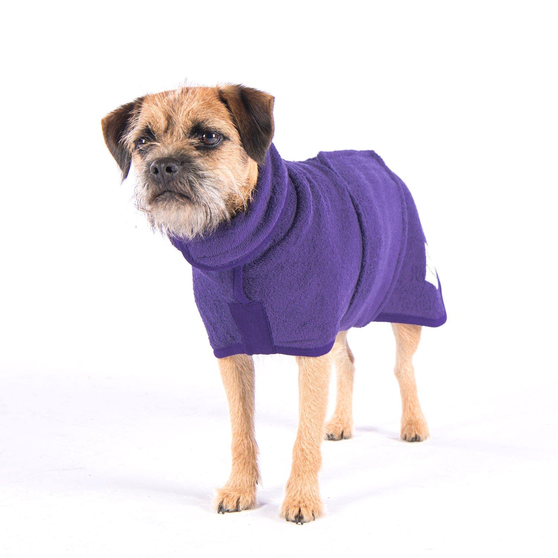 ruff tumble Dog Drying Coat Heather S 14-17Inches