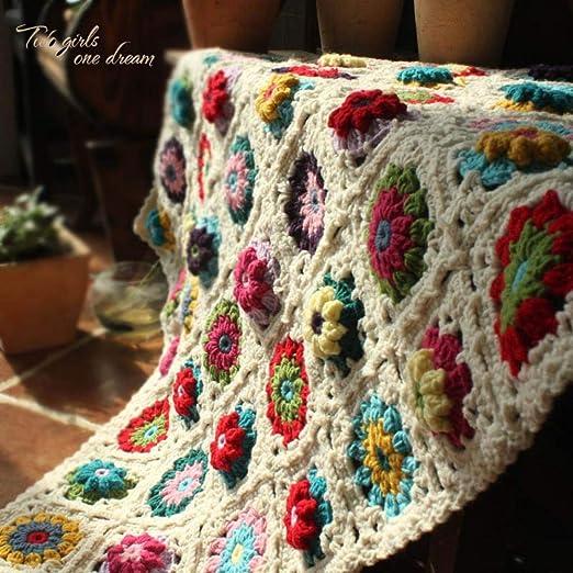LASISZ DIY Crochet Manta de bebé cojín Colorido estéreo ...