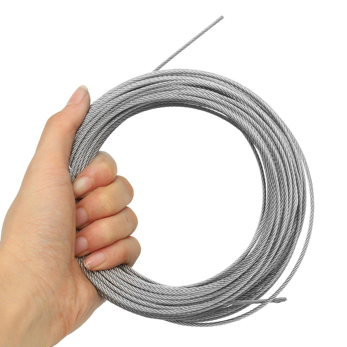KUNSE 2Mm Edelstahl Wire Rope Tensile Durchmesser Durchmesser Durchmesser Strukturkabel-50M B07N8LJ7MH | Hohe Sicherheit  3a033a