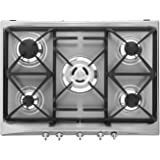 Smeg SR275XGH hobs - Placa (Integrado, Gas, Acero inoxidable, Giratorio, 50 cm, 3,2 cm)