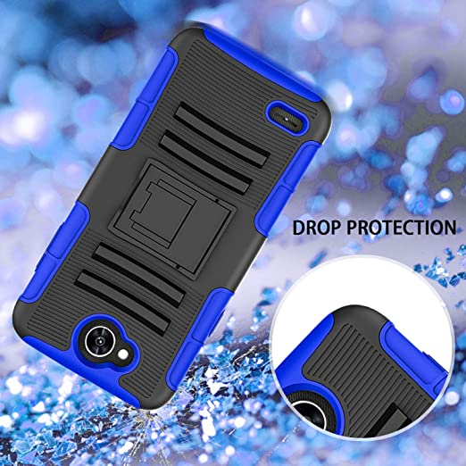 OEAGO LG X Charge Case, LG Fiesta 2 LTE Phone Case, LG Fiesta LTE Case, LG  X Power 2 (2017) Case, [Shockproof] [Impact Protection] Tough Rugged Dual