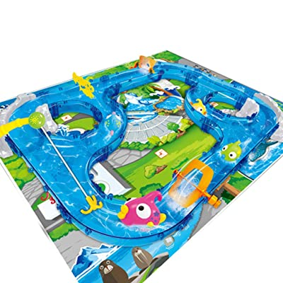 Yamart Toys for Childern, DIY Assembly Track Fishing Game Waterway Park Floating Bath Water Toys: Toys & Games