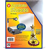 Hygloss Products Acetate Sheets for Projectors and Crafts, 10 Sheets