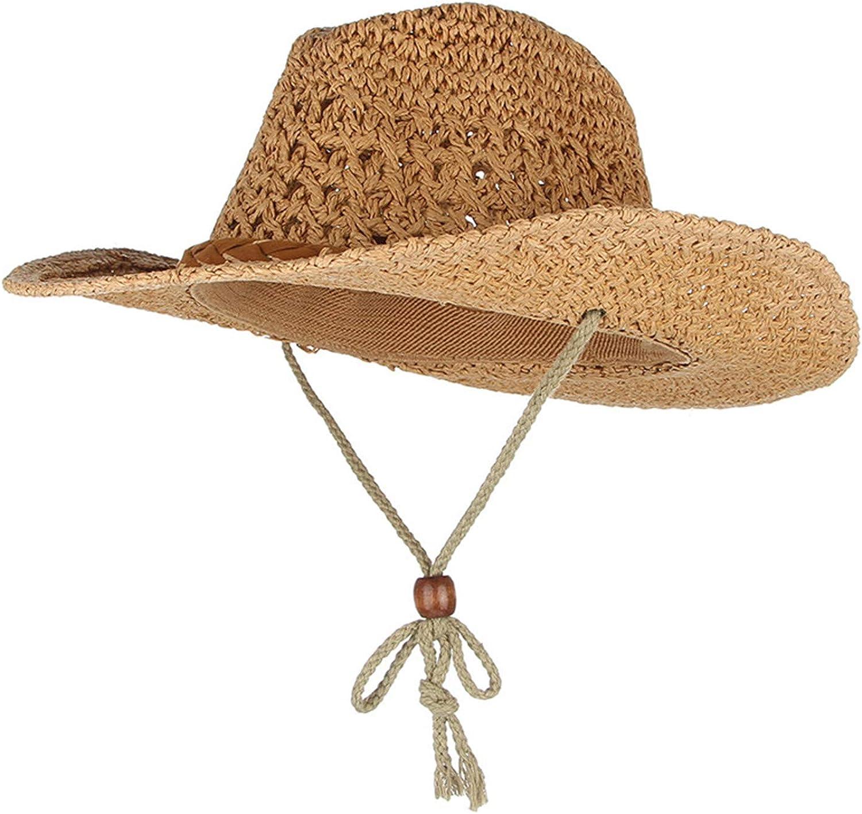 Handmade Weaved Baby Kids Straw Hats Wide Brim Sun Cap with String Vintage Summer Hats for Girls Boys Travel Beach Caps