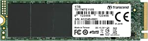 Transcend 1TB NVMe PCIe Gen3X4 80mm M.2 Solid State Drive (TS1TMTE110S)