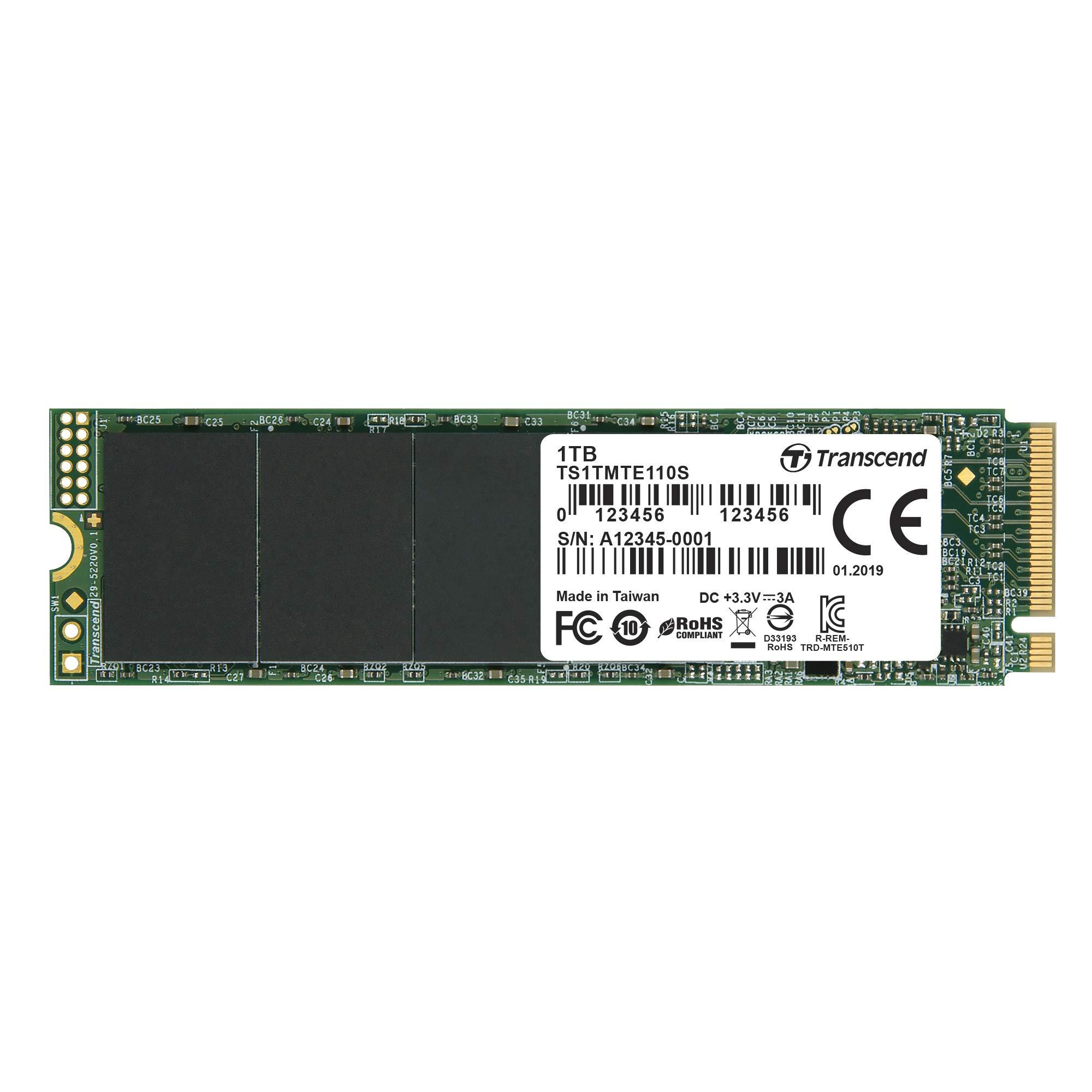 Transcend 1TB NVMe PCIe Gen3 x4 MTE110S M.2 SSD Solid State Drive TS1TMTE110S