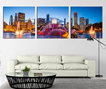 City Wall Art   Large Canvas Print   Chicago Wall Art Canvas Print   Chicago  City