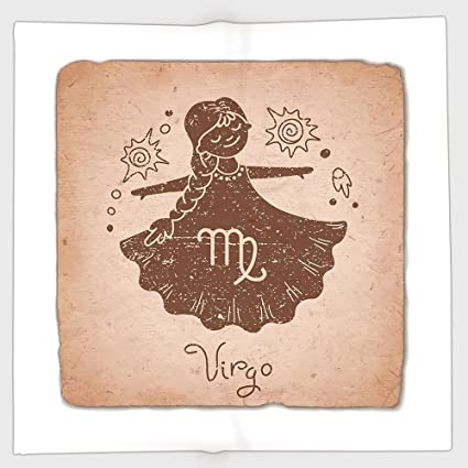 Amazon com: Cotton Microfiber Hand Towel,Virgo,Vintage Style Display