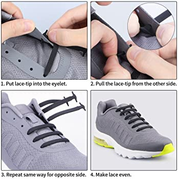 HOMAR No Tie Shoelaces for Kids and