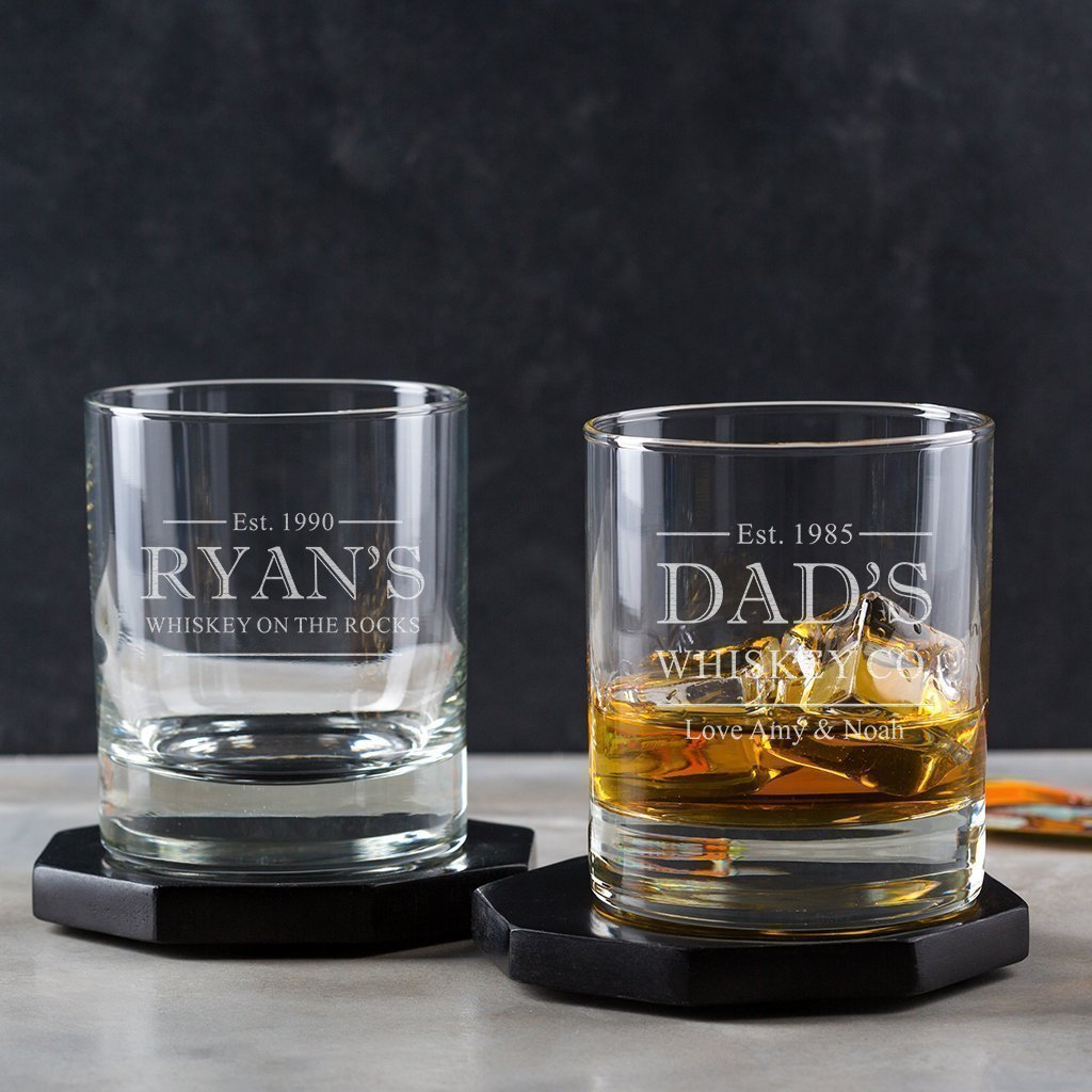 Personalised Whiskey Glass/Personalised Whisky Tumbler/Fathers Day Gifts/Engraved Whisky Glass/Whiskey Gift Ideas/Dad Whiskey Glass