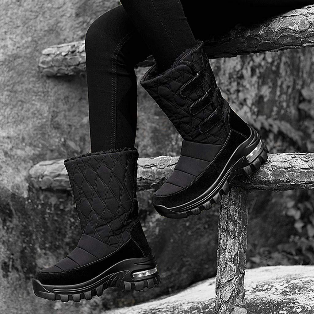 Dainzuy Womens High Heel Boots Autumn Round Toe Lace Up Ankle Buckle Chunky Heel Waterproof Platform Booties