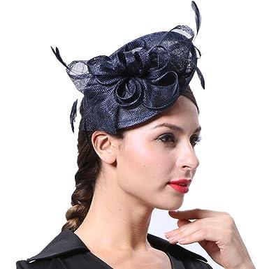 June  s Young Mujer - Tocado Mujer Sombrero pelo joyas para Boda Joyas de boda  sombrero Flores el pelo f04569a9611