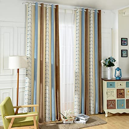 Amazoncom Striped And Flower Curtains Drapes Anady Top Luxurious
