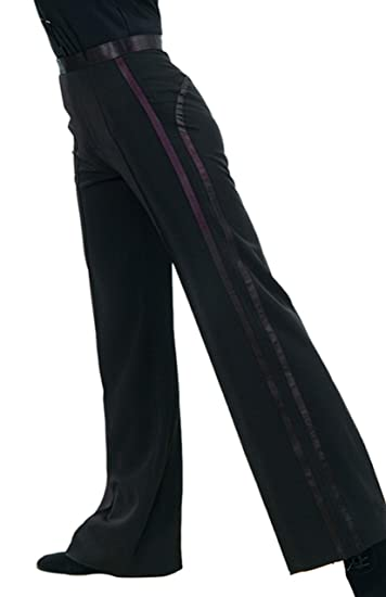 61ea3b218ba75 JS CHOW Black Men's Boys' Latin Ballroom Smooth Rhythm Performance  Competition Practice Dance Pants