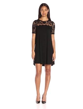 bd3a82e1f28 Karen Kane Women's Pencil Sleeve Lace Maggie Trapeze Dress, Black, X ...