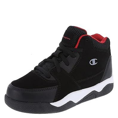 932c4a29ba0743 Champion Black Red Boys  High-Top Overtime Basketball 2.5 Regular