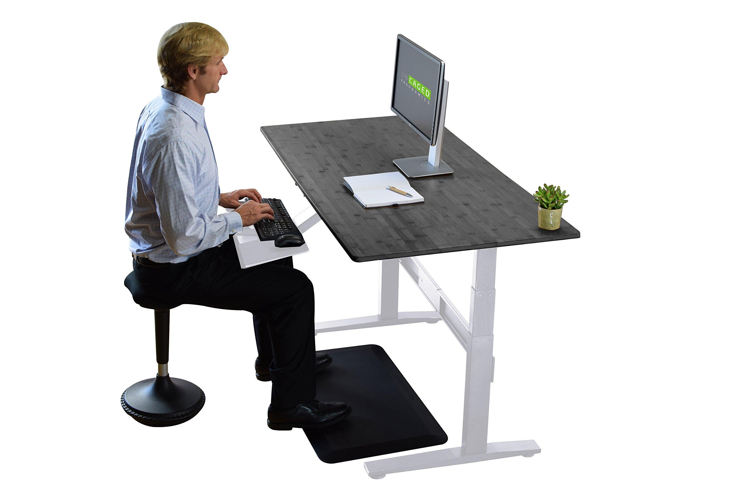 RISE UP Electric Adjustable Height Standing Desk + Beautiful Black Bamboo Desktop| Memory Keypad| 2 Motors| Affordable Ergonomic Sit Stand Office Desk by Uncaged Ergonomics (Image #6)