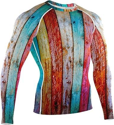 LUPINZ Color Madera Piso Patrón Transpirable Camiseta ...