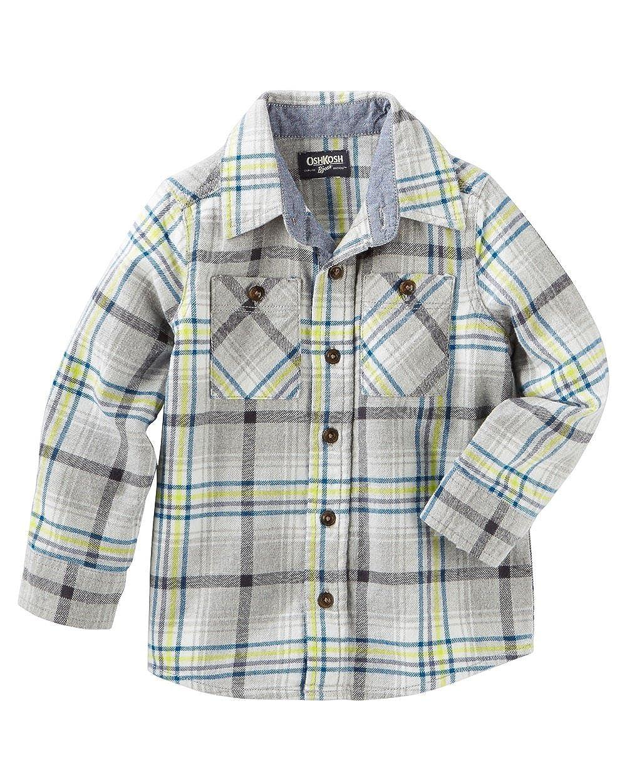 OshKosh Bgosh Big Boys 2 Pocket Plaid Button Front Shirt 14 Kids