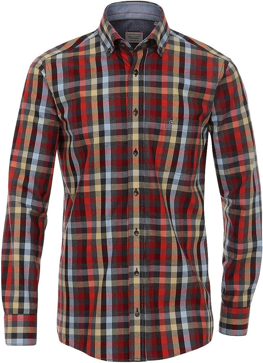Camisa Casa Moda Twill Negro-Rojo-Azul Claro a Cuadros Oversize, 2xl-8xl:3XL: Amazon.es: Ropa y accesorios