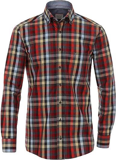 Camisa Casa Moda Twill Negro-Rojo-Azul Claro a Cuadros ...
