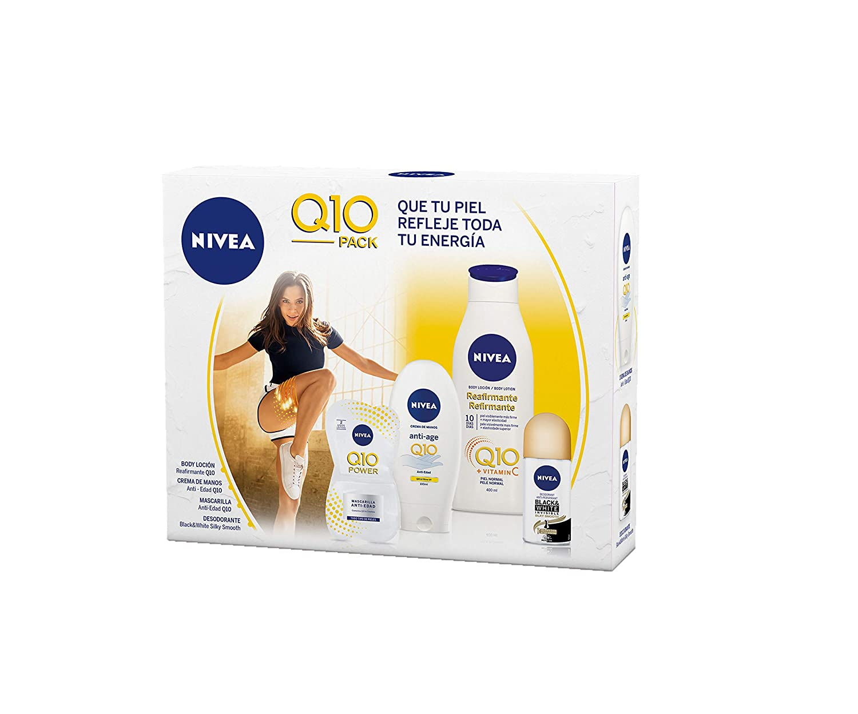 NIVEA Pack Body Q10 con loción reafirmante (1 x 400 ml), crema de ...