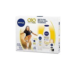 NIVEA Pack Body Q10 con loción reafirmante (1 x 400 ml), crema de manos (1 x 100 ml), desodorante roll on (1 x 50 ml) y mascarilla facial antiarrugas (1 x 15 ml): Amazon.es