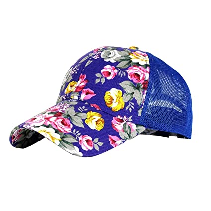 Buy Nimble House ® TMSnapback Baseball Cap Floral Perforated Ball Caps Golf Cap  Summer Mesh Cap for Women Teens Girls   Boys Online at Low Prices in India  ... 1fe4609cd85