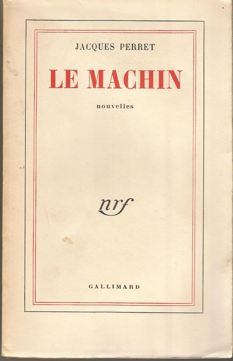 """Résultat de recherche d'images pour """"livre Le machin Jacques Perret"""""""