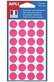 AGIPA Sachet de 168 étiquettes Gommettes de signalisation Rondes 15 mm Rose