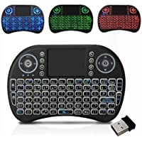 iBubble Mini Wireless Full Functional Keyboard with Trackpad Touchpad, 3 Colour RGB Backlight (Fn+f2 to Change), Mouse Combo for Laptops, PC, Android