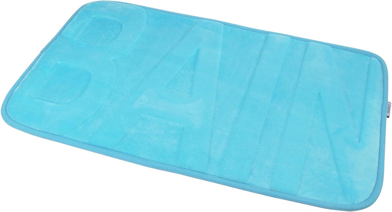 Douceur d Int/érieur 6/gmb370bl Alfombra de ba/ño de Microfibra Azul 45/x 75/cm