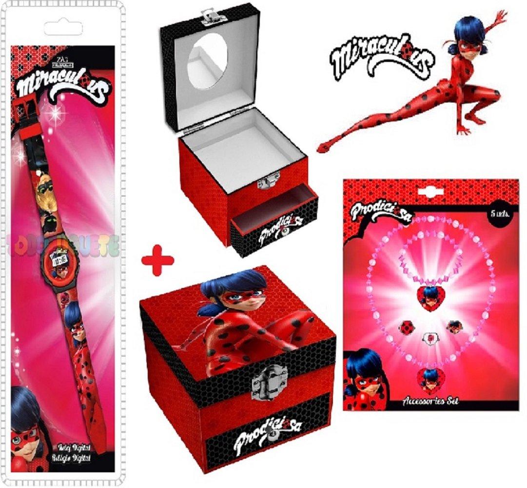 LadyBug Joyero Cajones + Reloj Ladybug + Conjunto de joyas LadyBug: Amazon.es: Juguetes y juegos