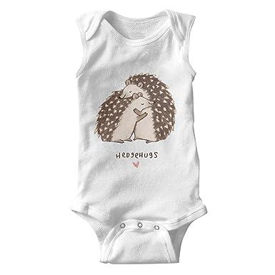 97738232d lsawdas Cute Cartoon Hedgehog Hugs Unisex Baby Cotton Sleeveless Cute Baby  Clothes Baby Onesies