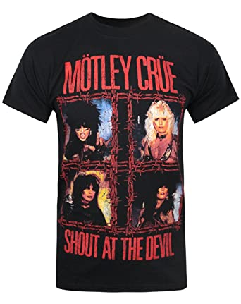 705d4dd0c70 Official Motley Crue Shout At The Devil Men s T-Shirt  Amazon.co.uk ...