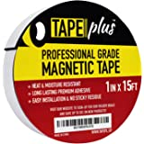 "Professional Grade Magnetic Tape 1"" x 15 Feet (Get 50% More!) - Incredibly Strong & Flexible - Peel & Stick Adhesive Backing - Easy to Cut - Strong Magnet Flux"