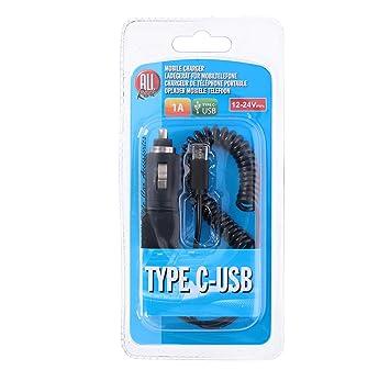 Cargador de Coche USB Type-C 12/24 V 1 A All Ride: Amazon.es ...