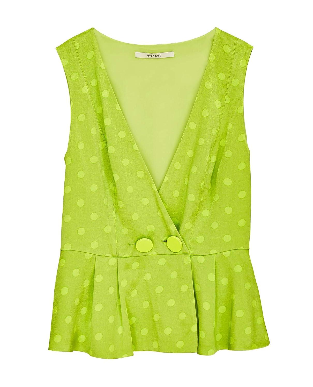 Uterque Women Green Polka dot top 0656//251