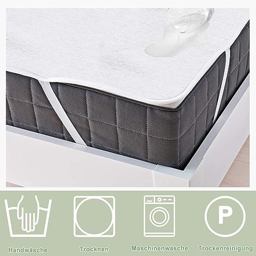 WIS 2 sets Cubierta de colchón impermeable 140x200cm 2 lados 100 ...
