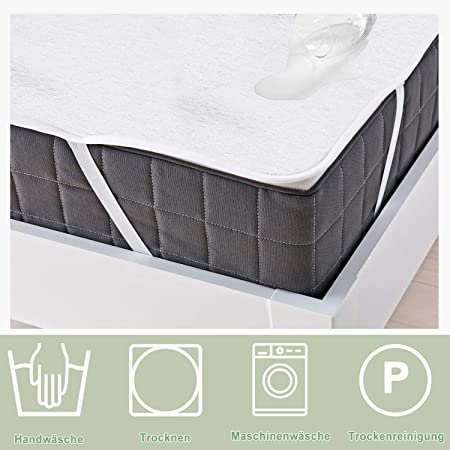 WIS 2 sets Cubierta de colchón impermeable 140x200cm 2 lados 100% algodón Protector colchón impermeable Protectores de almohadas: Amazon.es: Jardín