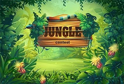 amazon com lfeey 7x5ft jungle theme backdrop green plants virgin