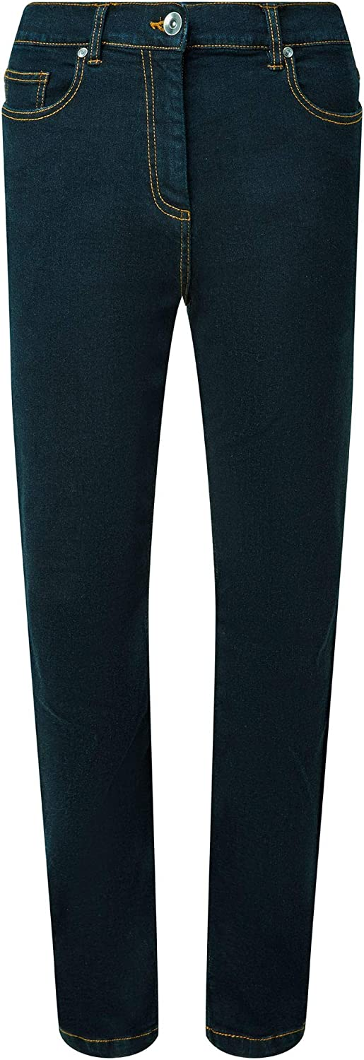 Cotton Traders Womens Side Elasticated Waist Jeans 27 inch Inside Leg