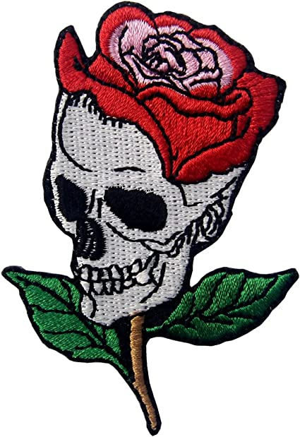 Cloth Patch Triker Lady Roses Lady Bikers Embroidered Badge