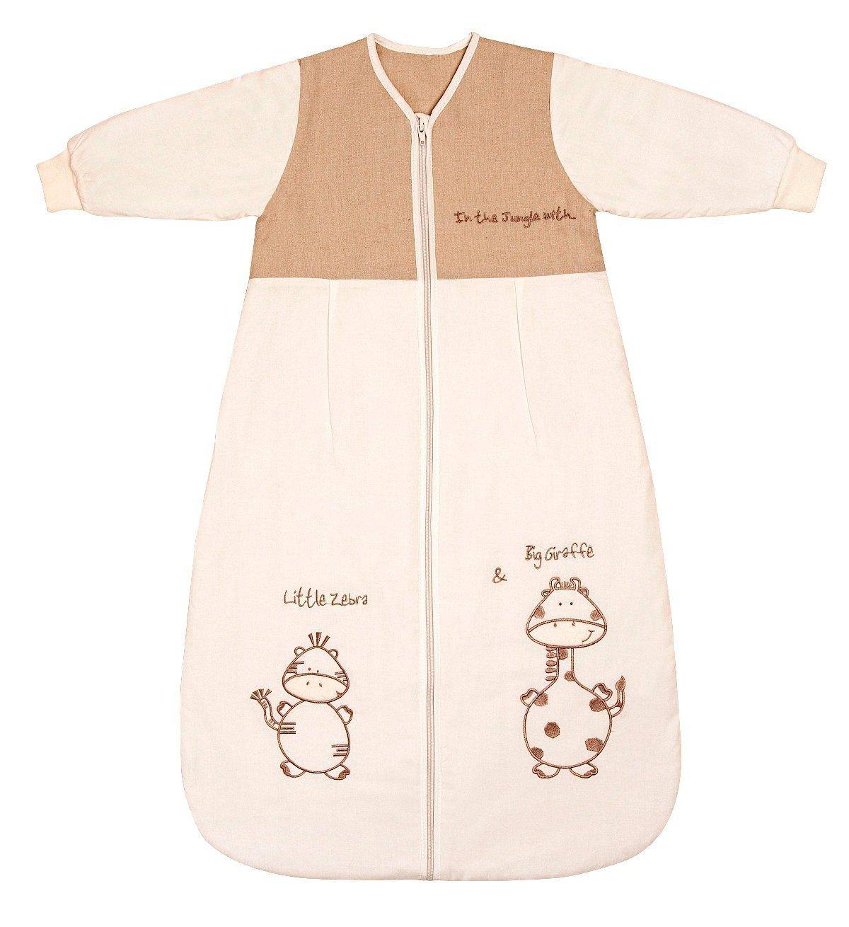 Schlummersack Winter Babyschlafsack für Neugeborene Langarm 3.5 Tog 56 cm - Giraffe