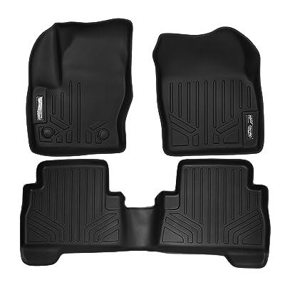 MAXLINER Floor Mats 2 Row Liner Set Black for 2013-2020 Ford Escape/C-Max: Automotive
