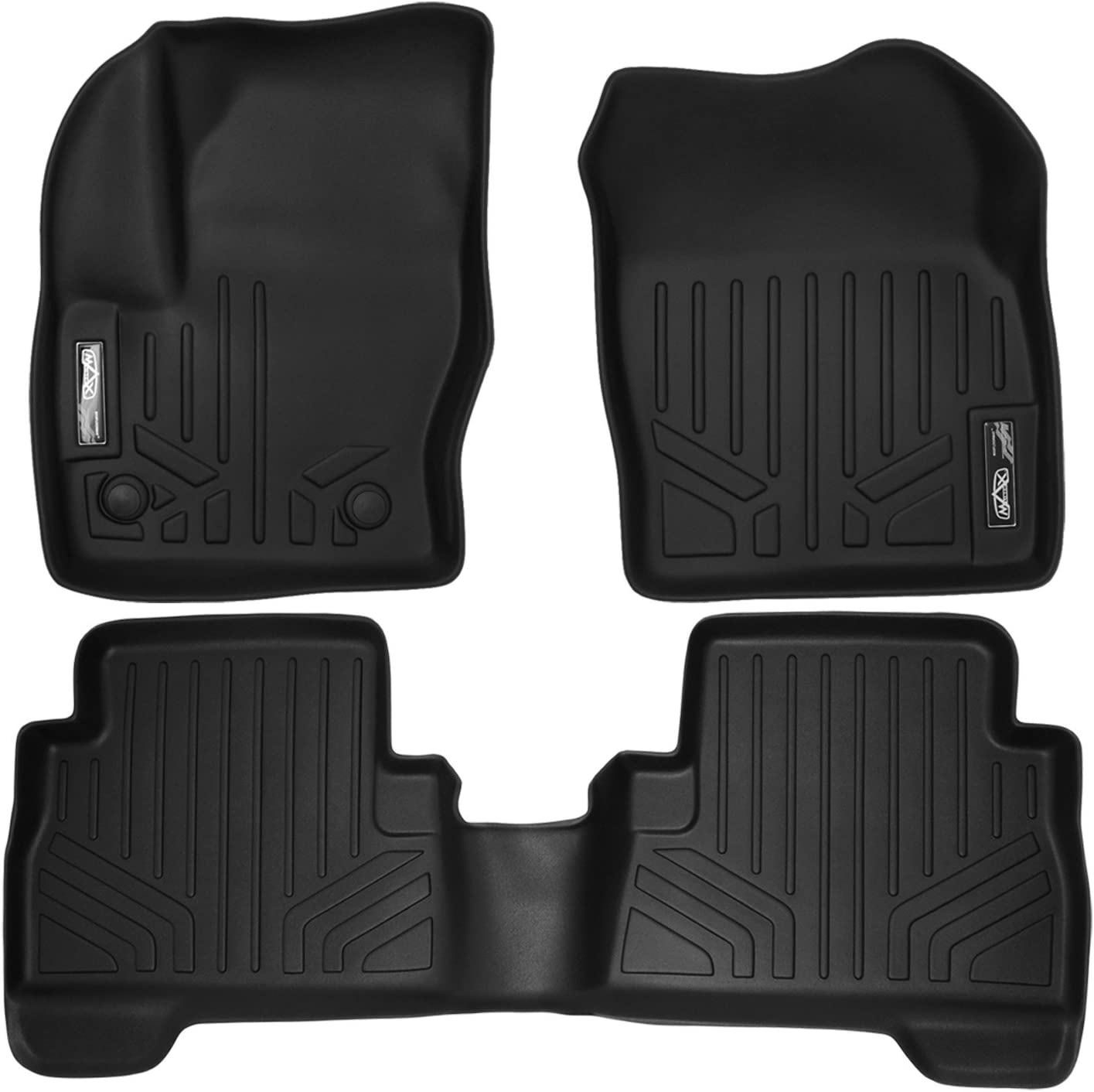 2013-2016 2nd Row C-Max MAXLINER B0115 Floor Mats for Ford Escape 2013-2017 Black