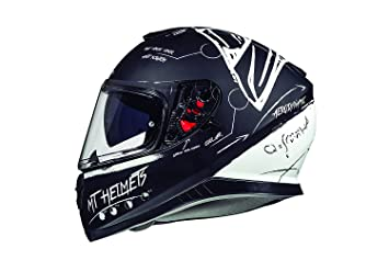 CASCO MT THUNDER 3 SV ON BOARD NEGRO Y BLANCO (XS)